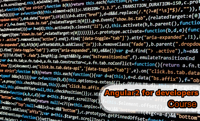 Angular2 Development Course
